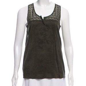 THE KOOPLES lace accented silk top